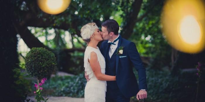 Martina & Steves retro wedding at Ashley Park House