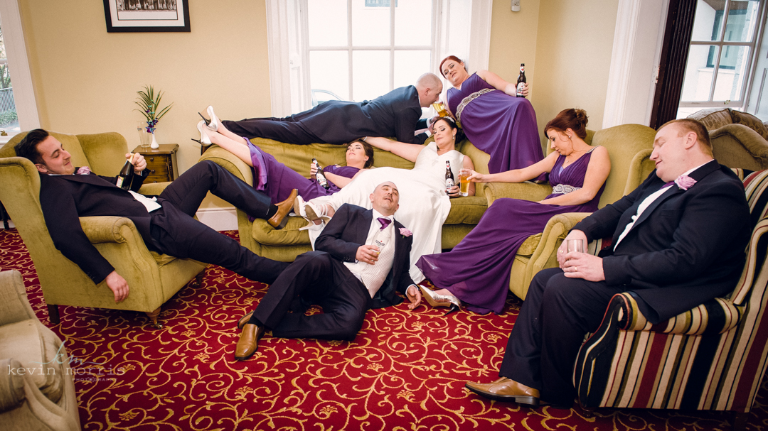 Fun wedding of Debbie & Stephen at the Annebrook House Hotel