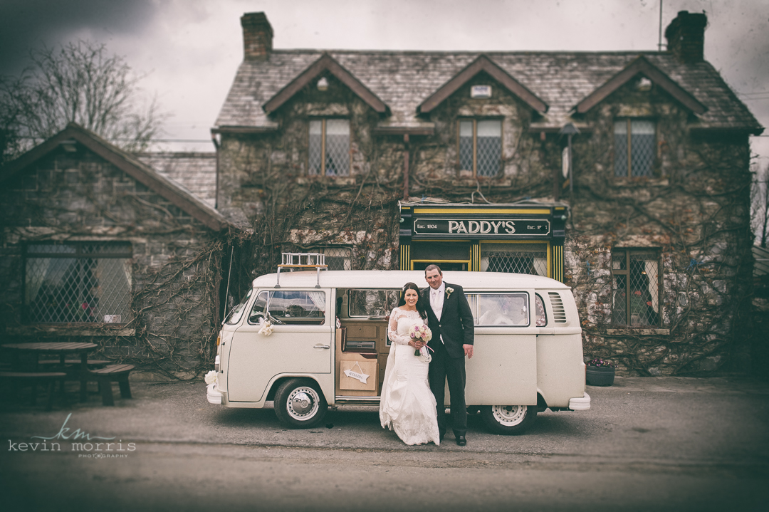 Eilis & Garrett and their fab retro VW wedding camper van