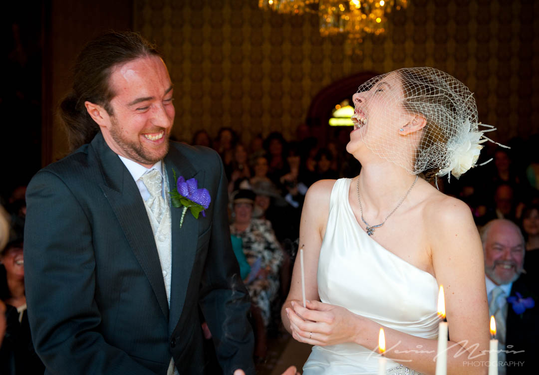 Informal and unposed wedding photography by Kevin Morris